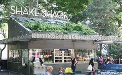 The original Shake Shack located in Madison Square Park