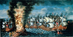 The Battle of Öland during the Scanian War, between an allied Dano-Norwegian-Dutch fleet and the Swedish Navy, 1 June 1676