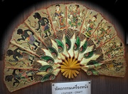 Hand fan crafted from leather from southern Thailand