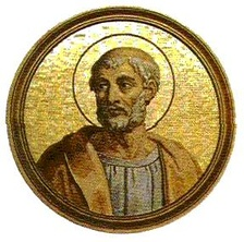 An artistic representation of St. Clement I, an Apostolic Father.