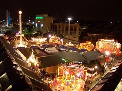 A glimpse of the State Fair of Texas at night in 2006