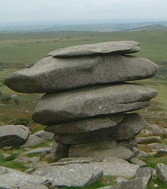 The Cheesewring, a granite tor