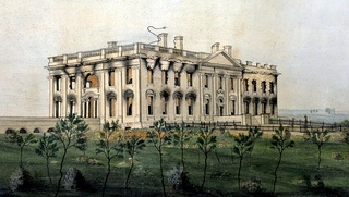 The White House as it looked following the conflagration of August 24, 1814