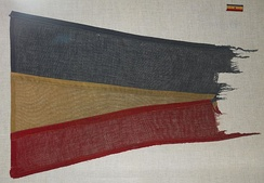 Navy Presidential Unit Citation pennant and ribbon awarded 1944 to Task Group 22.3.