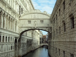 Bridge of Sighs, one of the most visited sites in the city