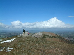 Summit of the Worcestershire Beacon in the Malvern Hills, the county's highest point.