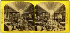 The nave from the Western Dome.  A stereoscopic view of the 1862 International Exhibition interior pub- lished by the London Stereoscopic Company