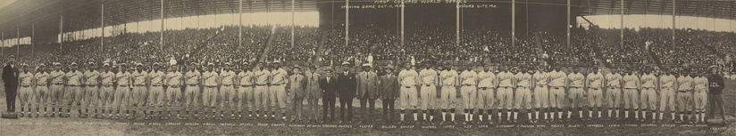 The two opposing teams line up at the 1924 Colored World Series