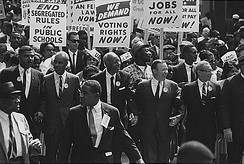 A march in Washington, D.C., during the civil rights movement in 1963
