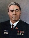 An official portrait of Leonid Brezhnev dating back to 1977