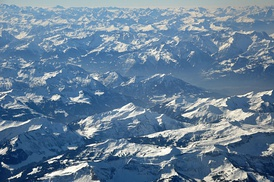Aerial view of Alps (Vorarlberg)