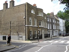 Laurence O'Shaughnessy's former home, the large house on the corner, 24 Crooms Hill, Greenwich, London[81]