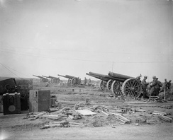 60-pounder battery at Arras, 1917