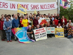 Anti-nuclear march from London to Geneva, 2008