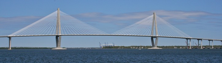 The new Arthur Ravenel Jr. Bridge, constructed in 2005 and named after former U.S. Representative Arthur Ravenel Jr., who pushed the project to fruition, was at the time of its construction the second longest cable-stayed bridge in the Western Hemisphere.[citation needed]