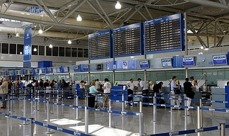 Athens International Airport Check-in-area