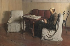 "Isaak Brodsky, Lenin in Smolny (1930), living up to the title of ""realism"" more than most works of the style."