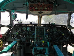 Cockpit of a C-123K Provider at the Castle Air Museum
