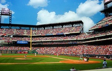 Citizens Bank Park, home of the Phillies, and Lincoln Financial Field, home of the Eagles