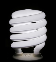 A spiral-type integrated compact fluorescent lamp, which has been popular among North American consumers since its introduction in the mid 1990s.[138]