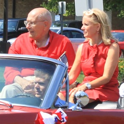 John and Debbie Dingell at the 2011 Ypsilanti Independence Day Parade