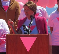 Congresswoman Pelosi at the Friends of the Pink Triangle Ceremony