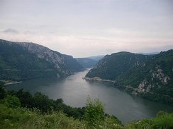 The Iron Gate, on the Serbian-Romanian border (Iron Gates natural park and Đerdap national park)