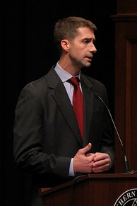 Cotton participating in a 2012 congressional debate at Southern Arkansas University