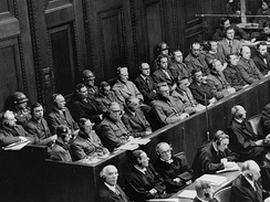 The 23 defendants during the Doctors' trial, Nuremberg, 9 December 1946 – 20 August 1947