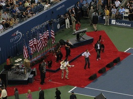 Earth, Wind & Fire performing at the opening ceremony of the 2008 U.S. Open August 25, 2008