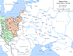 Soviet advances from 1 January 1945 to 11 May 1945:   to 30 March 1945   to 11 May 1945