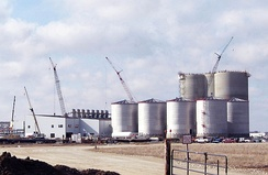 Ethanol plant under construction in Butler County.