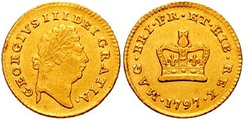 George III guinea, a gold coin worth 21 shillings