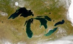 Великие озёра, вид из космоса