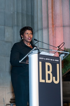 Ifill at the 2015 LBJ Liberty & Justice for All Award in Washington, D.C.