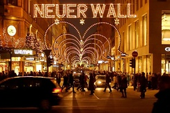 Neuer Wall, one of Europe's most luxurious shopping streets