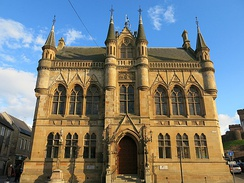 Inverness Town House, a local government building in Inverness, the major town of the Highland council area, governed by The Highland Council