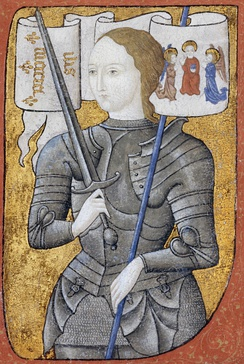 Joan of Arc led the French army to several important victories during the Hundred Years' War (1337–1453), which paved the way for the final victory.