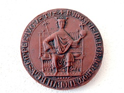 Seal with portrait of Rudolf I dated 1275