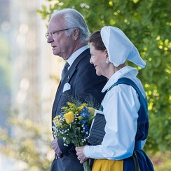 The current King of Sweden, Carl XVI Gustaf, and Queen Silvia of Sweden