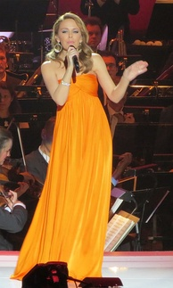 Minogue performing during the 2012 Nobel Peace Prize Concert