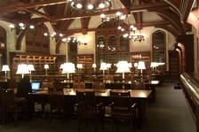 Reading room in Anheuser-Busch Hall