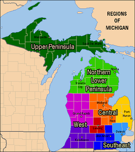 Michigan's regions.