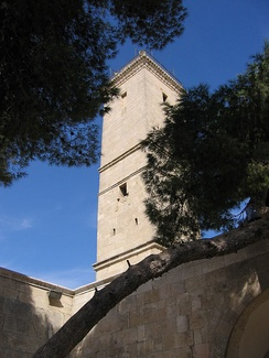 Minaret of the Great Mosque of the Aleppo Citadel, built by az-Zahir Ghazi in 1214