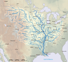 The Mississippi River Watershed is the largest drainage basin of the Gulf of Mexico Watershed.[28]