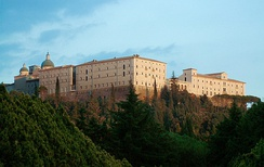 Abbey of Monte Cassino, originally built by Saint Benedict, shown here as rebuilt after World War II