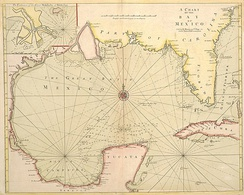 Richard Mount and Thomas Page's 1700 map of the Gulf of Mexico,  A Chart of the Bay of Mexico