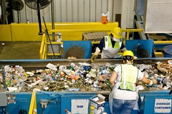 Single-stream recycling increases public participation rates, but requires additional sorting.