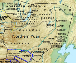 The Northern Yuan at its greatest extent