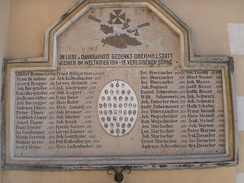 Austrian memorial commemorating soldiers from the village of Obermillstatt who died in World War I